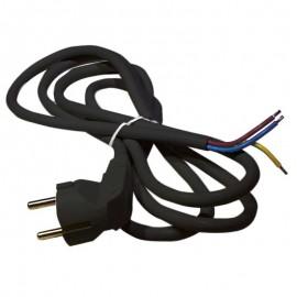 Flexo šnúra PVC 3x0,75mm - 3m čierna