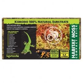 Komodo Habitat Moss Compact Brick -Rašelinník Lisovaná briketa 100g
